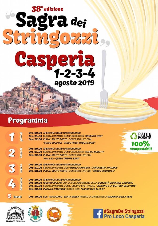 Sagra dei Stringozzi di Casperia – 38^ edizione - eventi in sabina
