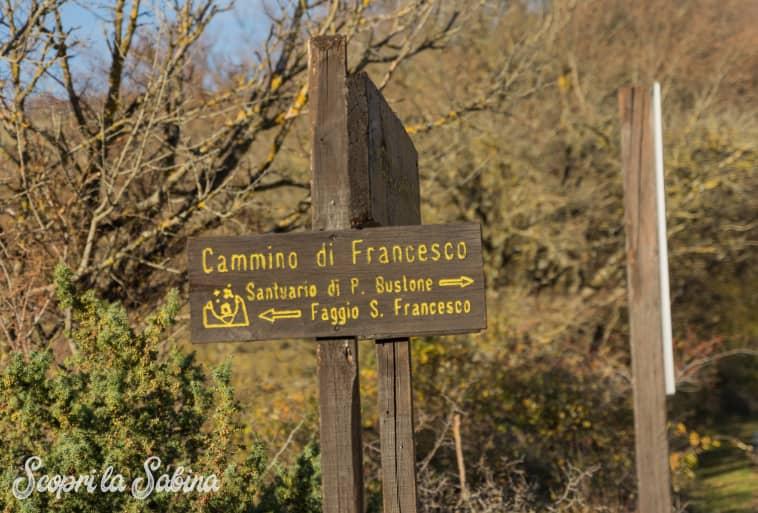 Cammino di Francesco - Sentieri che passano per il Faggio di San Francesco