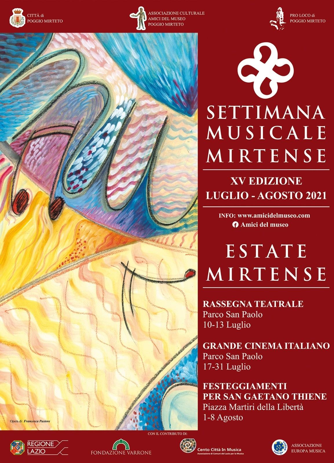 Settimana Musicale Mirtense - eventi in sabina