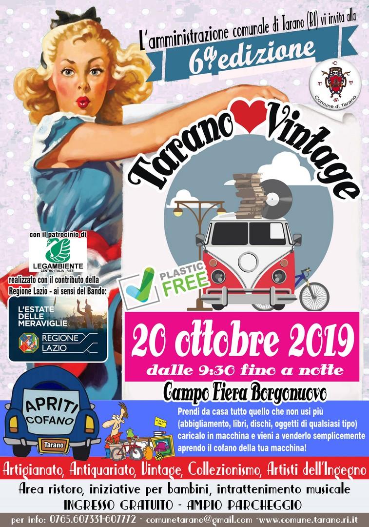 Tarano Love Vintage 2019 - eventi in sabina