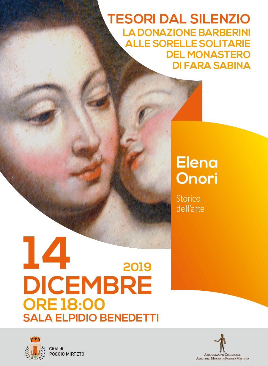 La donazione Barberini alle sorelle solitarie del monastero di Fara in Sabina - eventi in sabina