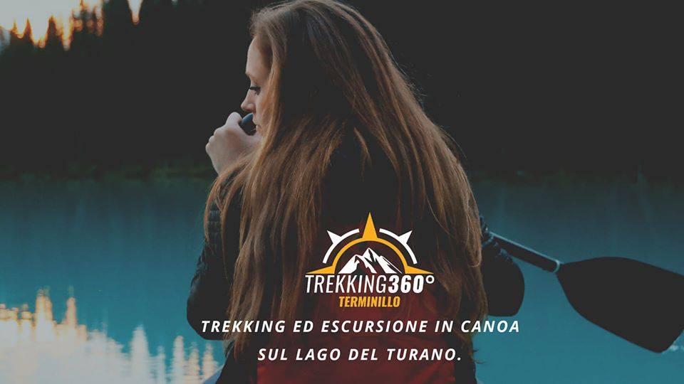 Trekking e canoa sul Lago del Turano - eventi in sabina