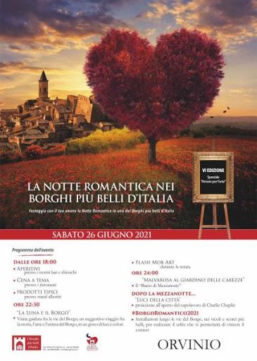 Notte romantica 2021 ad Orvinio - eventi in sabina