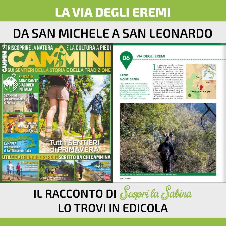 Via degli Eremi in Sabina (Lazio)